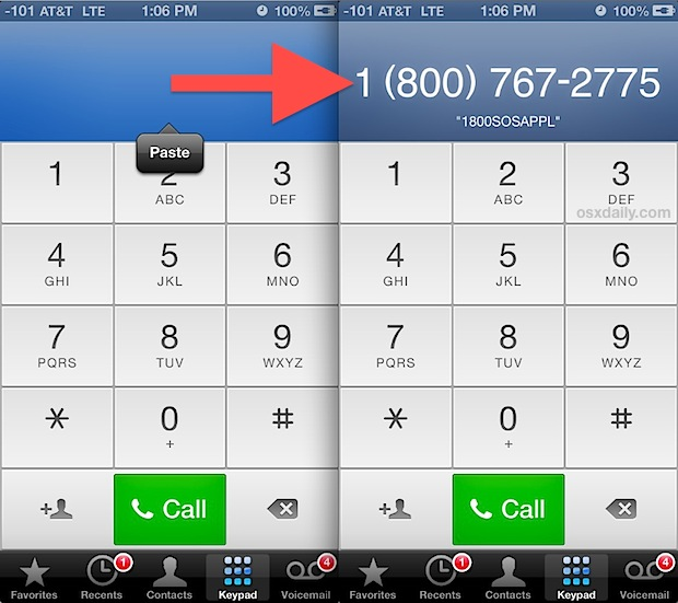 Convert and choose vanity number on iPhone