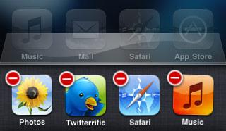 Close an app in iOS
