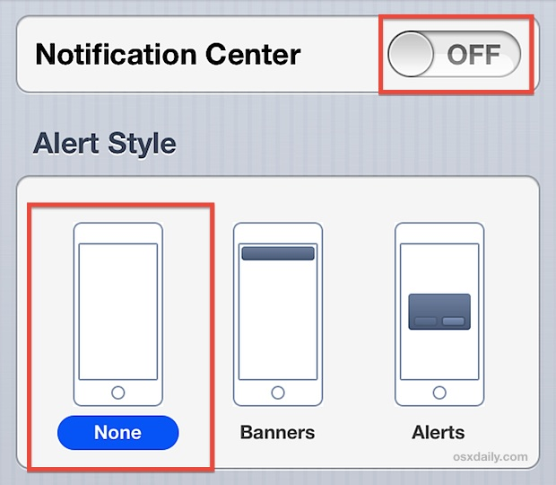 Turn off Notifications & Alerts on iPhone