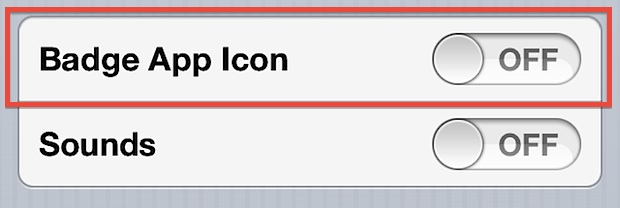 Disable Badge App Icons