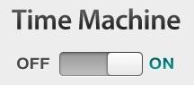 Turn Time Machine back ON