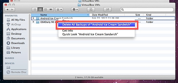Delete an item from Time Machine backups
