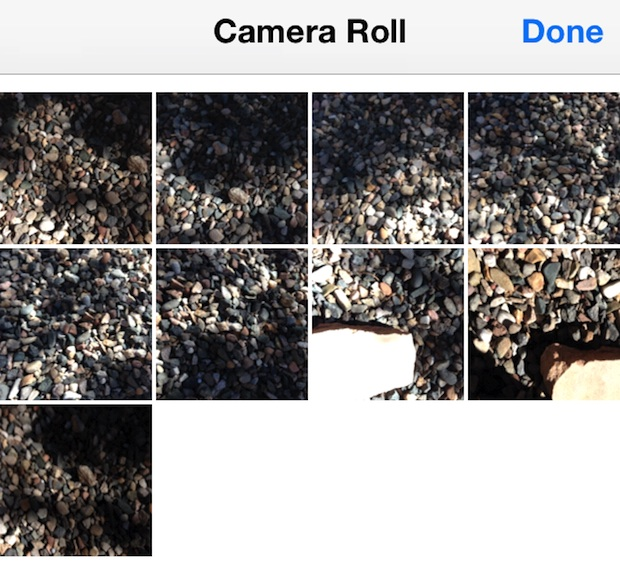 Burst photos grouped into Camera Roll
