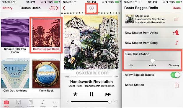 Customize iTunes Radio song search