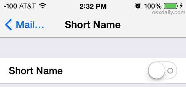 Show full name in Messages for iOS 7