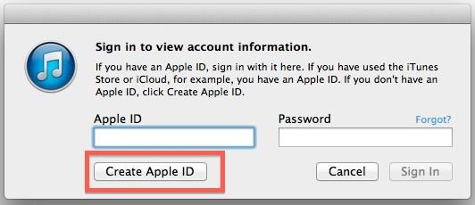 Create a new Apple ID
