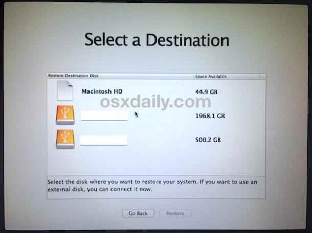 select-mac-drive-to-downgrade-os-x