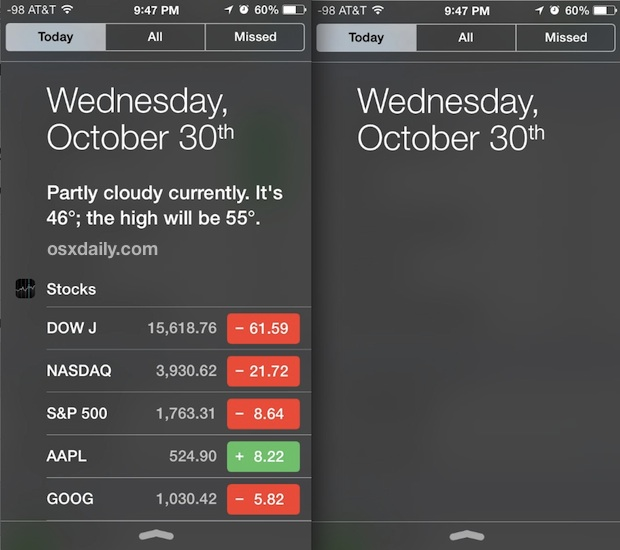 Check out customizations in Notification Center for iOS today