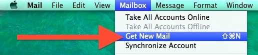 Download new email in the OS X Mail app