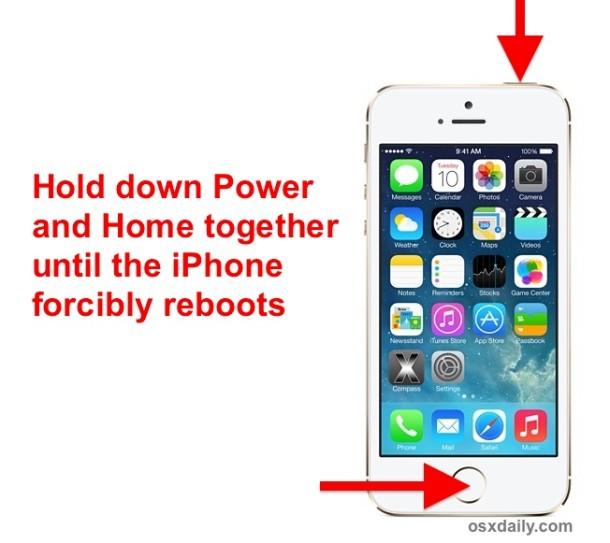 Force restart an iPhone