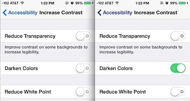 Darker colors versus standard colors in iOS