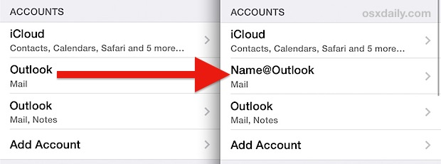 Rename an email account on iPhone, iPad, iPod touch