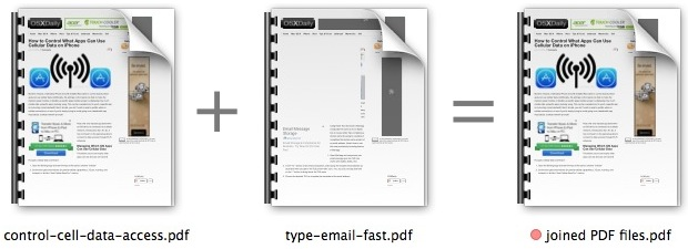 Merge multiple PDF files into one in Mac OS X