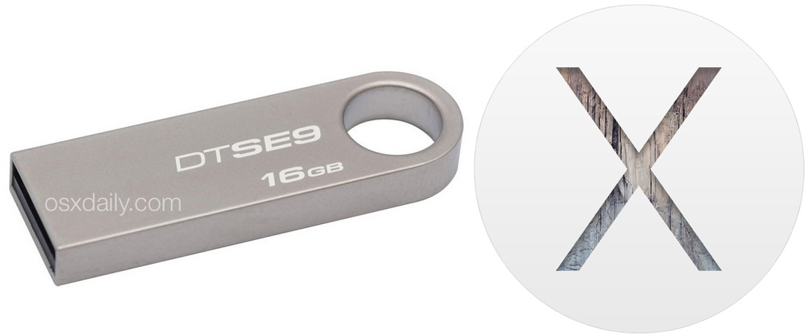 OS X Yosemite Installer USB drive