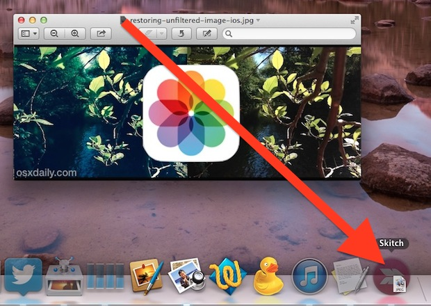 Drag a proxy icon onto a new app icon to open it