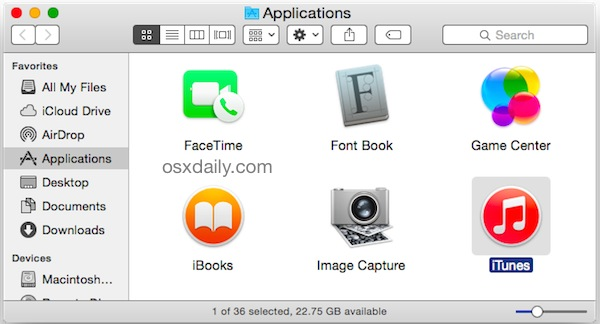 Open iTunes with the OPTION key