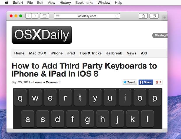 Address URL bar visible again in Safari for Mac OS X