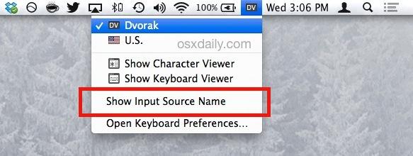 Current language type indicator in OS X