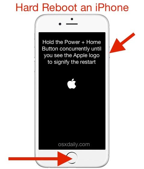 Restart an iPhone