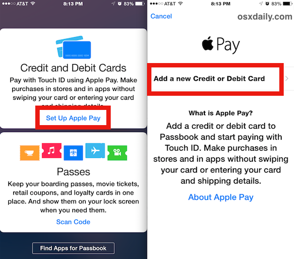 Set up Apple Pay on the iPhone