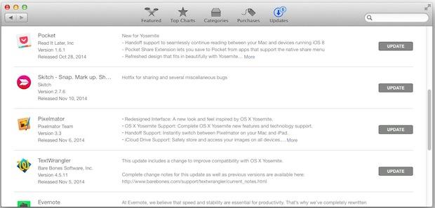Hidden Yosemite installer in App STore