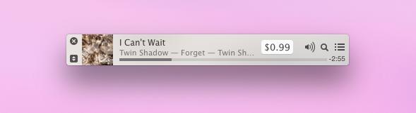 iTunes mini player
