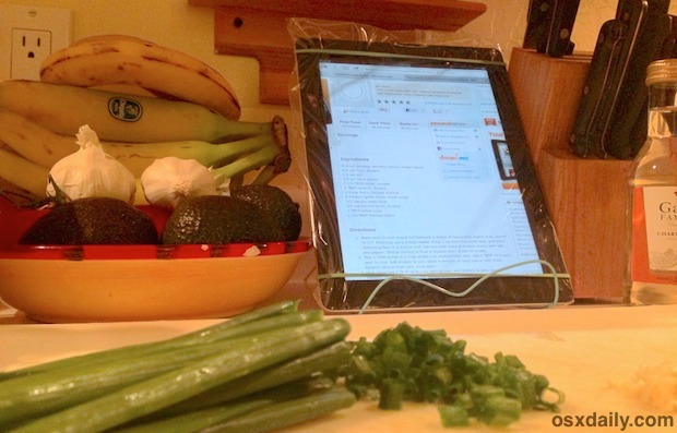 The zippered iPad in the kitchen is great for protecting against spills and splashes