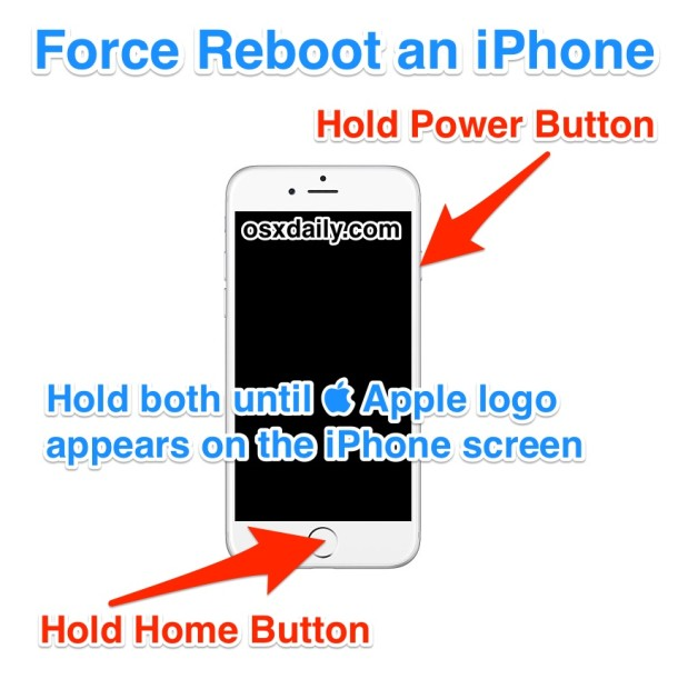 How to    Force restart an iPhone