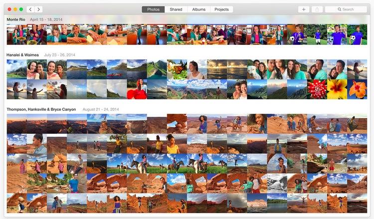 Photos app in OS X