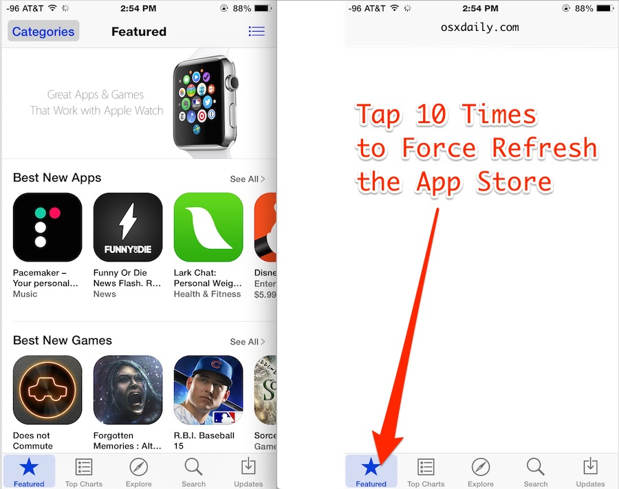 Force App Store Refresh in iOS