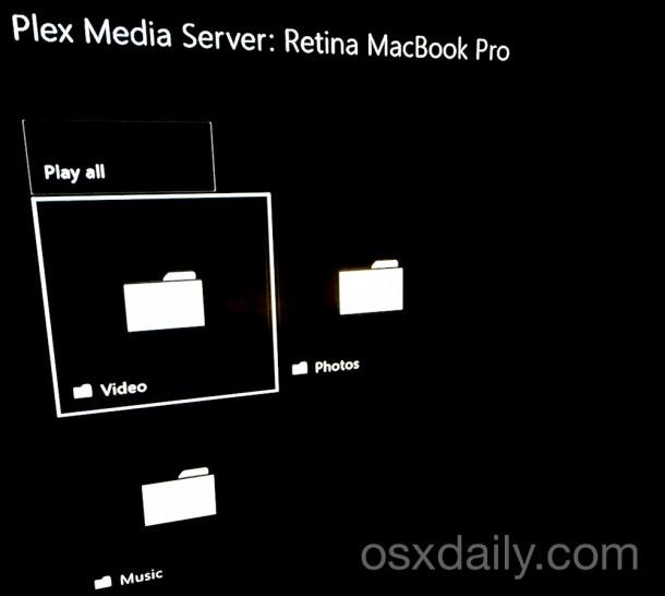 Browse the Plex Media Server on Xbox One