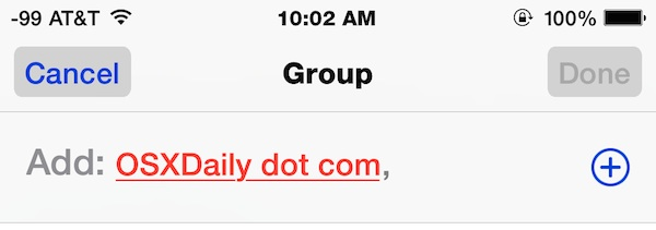 Add this person to a group conversation in Messages for iOS