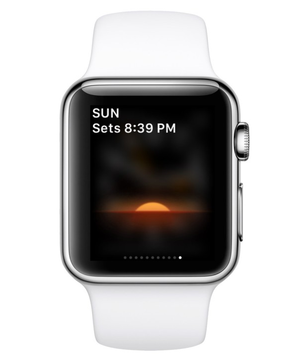 Third-party app installed on Apple Watch, featured in Glances