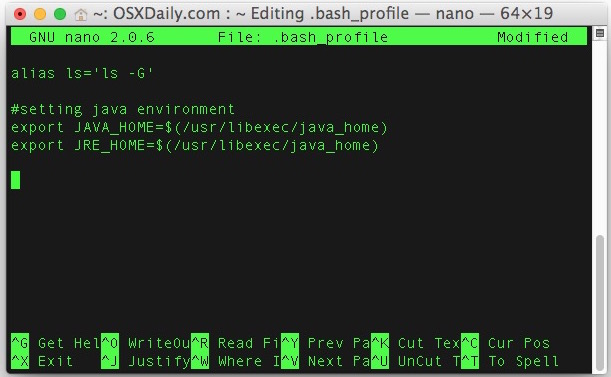 Set environment variables in Mac OS X by putting them in bash_profile