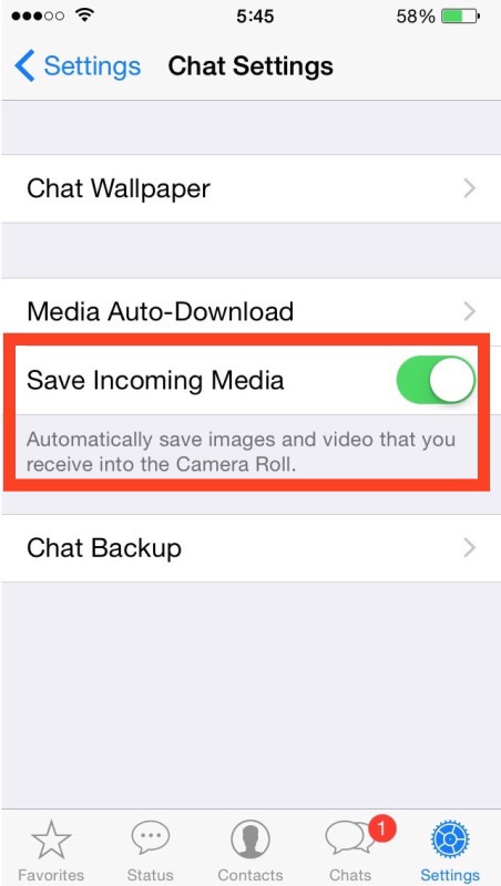 Quit WhatsApp to save photos and video on iPhone