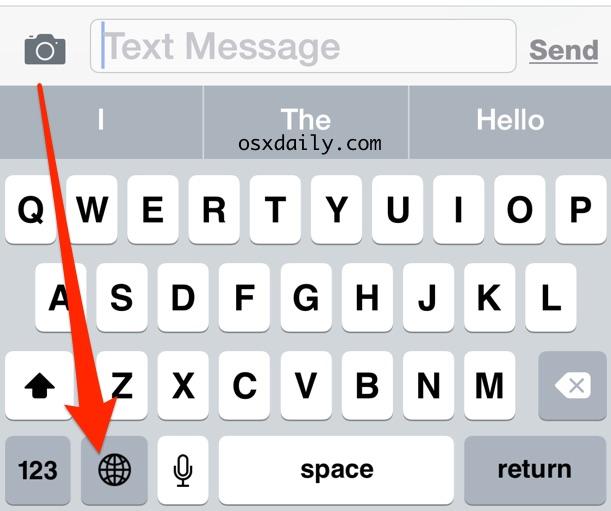 Change the keyboard language on iPhone