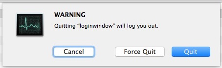 Close login window to log out the user or yourself