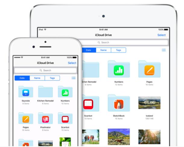 iCloud Drive on iOS