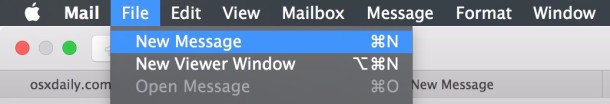 Create new open email tabs in the OS X Mail app