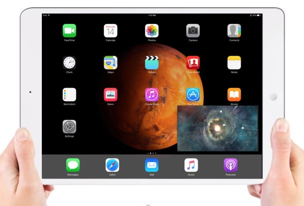 iPad with Picture in Picture mode
