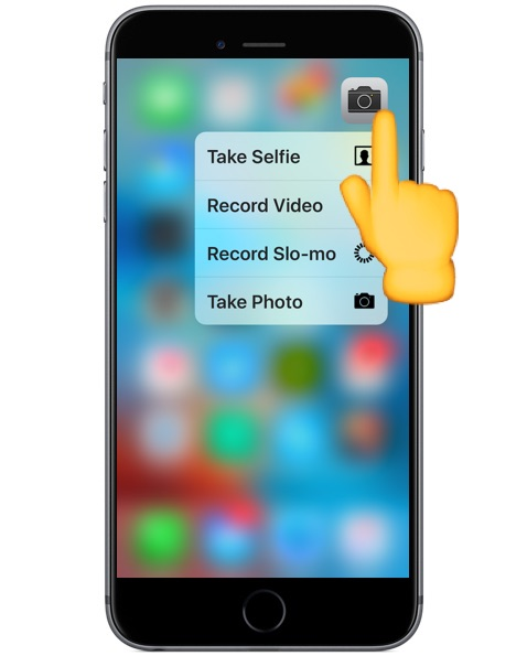 3D Touch on iPhone camera