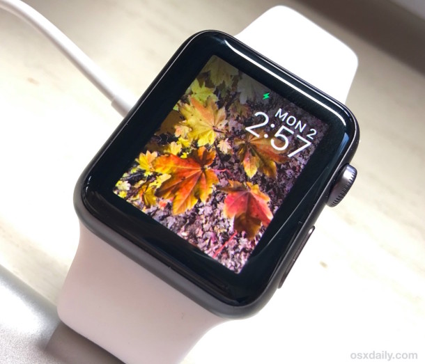 Custom Apple Watch photo display