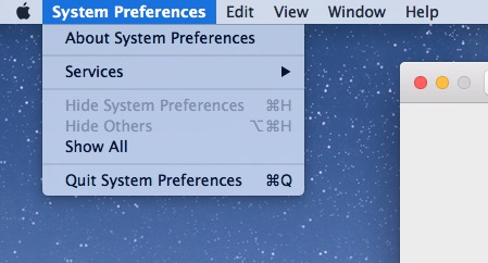 Light mode menu down Mac