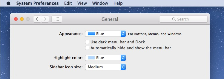 Disable dark mode in OS X for the default light mode color