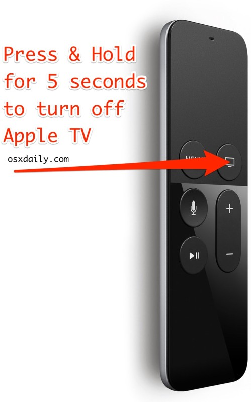 Turn off Apple TV with the remote