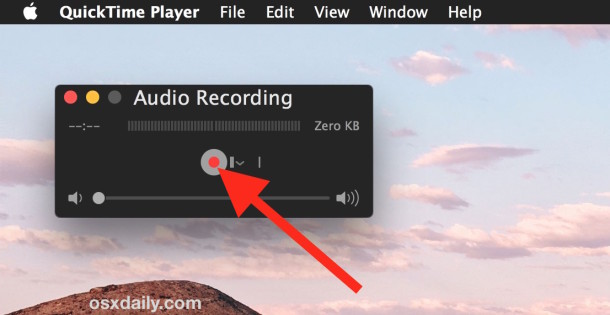 Record the sound you want to set as a warning for Mac OS X