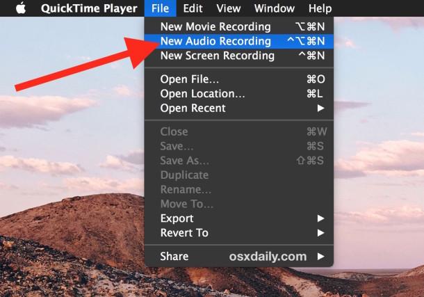 Make a new audio recording