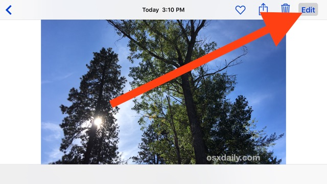 Tap Edit to convert a live photo