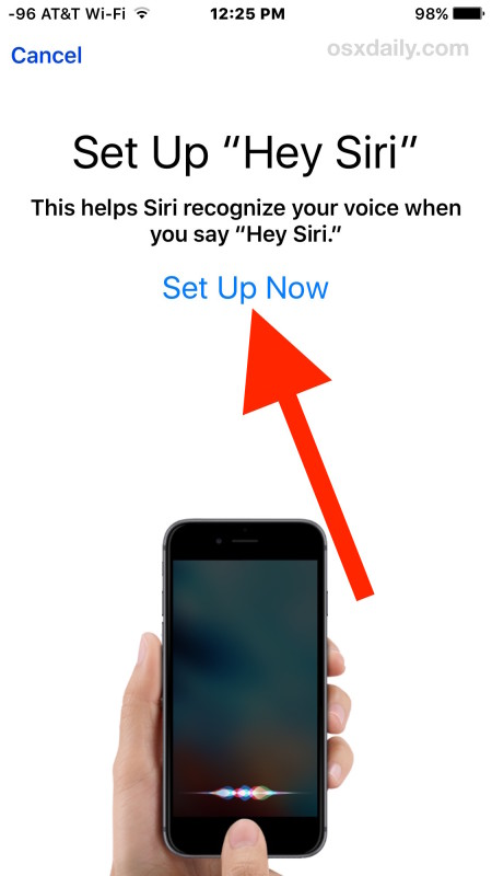 Set up Siri with voice recognition
