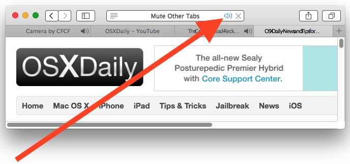 View a list of all tabs playing audio in Safari